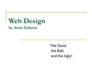 Web Design by Anne Galante