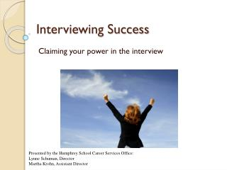 Interviewing Success