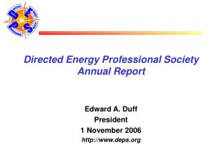 Directed Energy Professional Society Annual Report