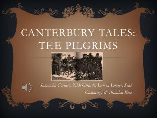 Canterbury Tales: The Pilgrims