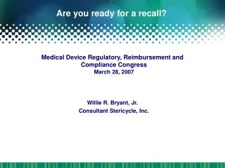 Are you ready for a recall