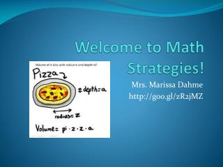 Welcome to Math Strategies!