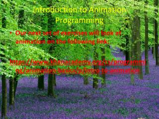 Introduction to Animation Programming