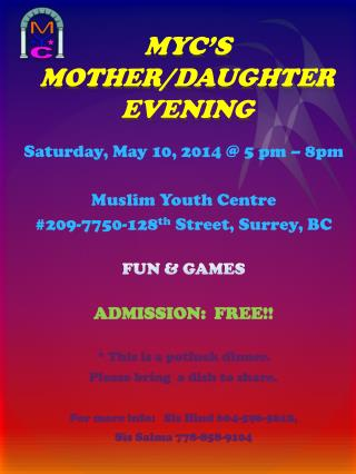 MYC'S  MOTHER/DAUGHTER EVENING