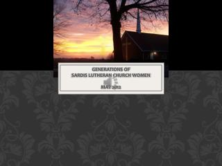 Generations of  Sardis Lutheran Church Women May 2012