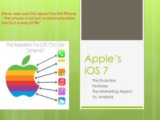 Apple�s iOS 7