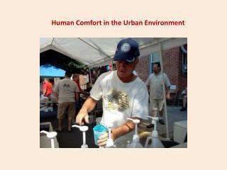 Human Comfort in the Urban Environment