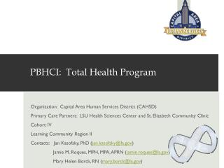 PBHCI:  Total Health Program