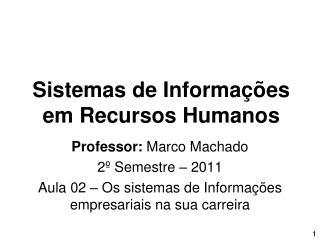 Sistemas de Informações em Recursos Humanos