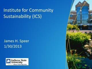 Institute for Community Sustainability (ICS)