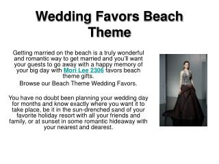 Wedding Favors Beach Theme