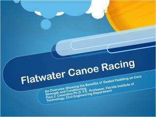 Flatwater  Canoe Racing