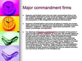 Major commandment firms