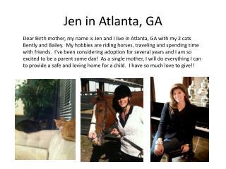 Jen in Atlanta, GA