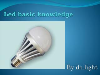 Led basic knowledge