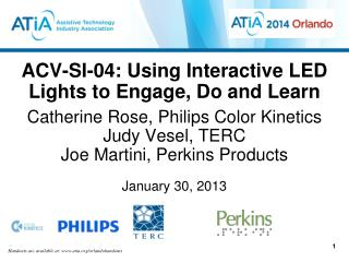 ACV-SI-04 :  Using  Interactive LED Lights to Engage, Do and Learn