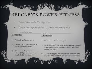 Nelcaby�s  Power Fitness