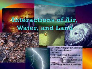 Interactions of Air, Water, and Land