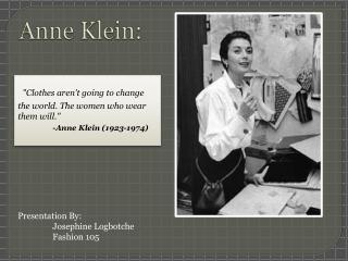 Anne  Klein: