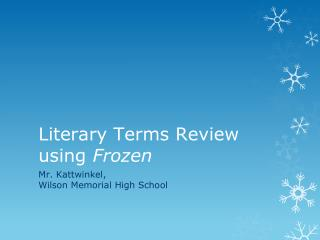 Literary Terms Review using  Frozen