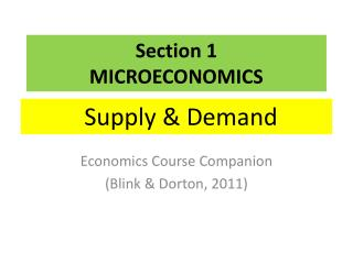 Section  1 MICROECONOMICS