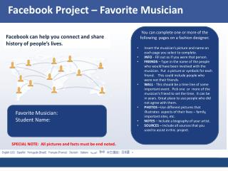Facebook  Project – Favorite Musician