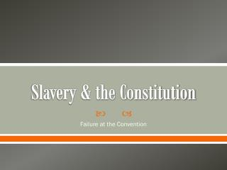 Slavery & the Constitution
