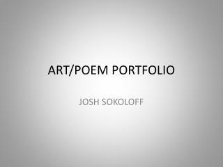 ART/POEM PORTFOLIO