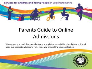 Parents Guide to Online Admissions