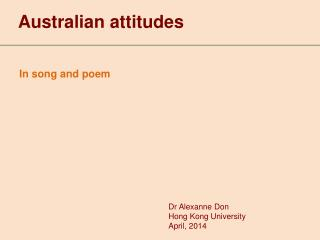 Australian attitudes