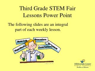 Third Grade STEM Fair  Lessons Power Point