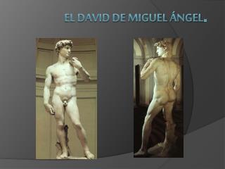 El David de Miguel Ángel .