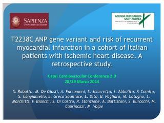 Capri Cardiovascular Conference 2.0  28/29 Marzo 2014