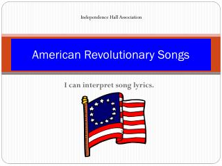 American Revolutionary Songs
