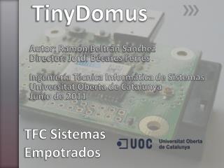TFC Sistemas Empotrados