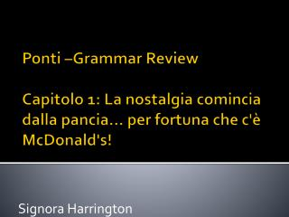 Signora Harrington
