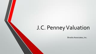 J.C. Penney Valuation