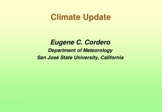 Climate Update
