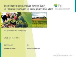 Sozioökonomische Analyse für den ELER  im Freistaat Thüringen im Zeitraum 2014 bis 2020