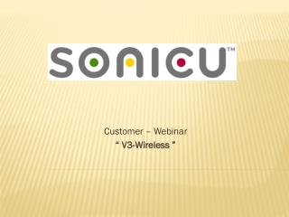 "Customer – Webinar "" V3-Wireless """
