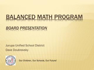 Balanced Math Program  Board Presentation