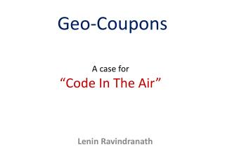 Geo-Coupons