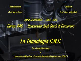 Specializzando   Relatore  Prof. Marco Bonci                    Prof. Sandro Cipolletti