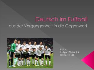 Deutsch im Fu�ball