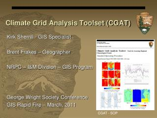 Climate Grid Analysis Toolset (CGAT)
