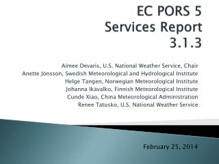 EC PORS 5 Services Report 3.1.3