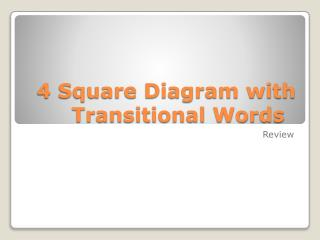 4 Square Diagram with Transitional Words