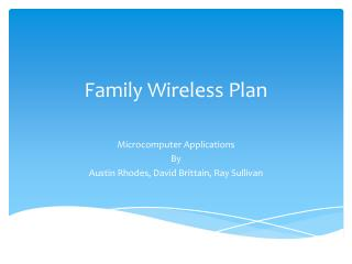 Family Wireless Plan
