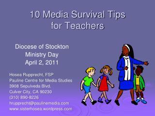10 Media Survival Tips  for Teachers