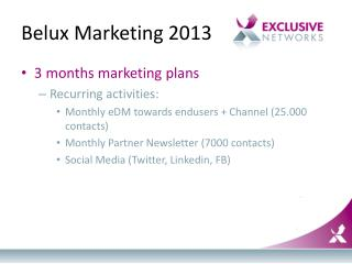 Belux  Marketing 2013